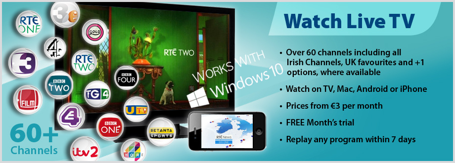 iBox Live Internet TV in Ireland